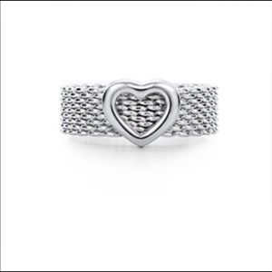 Tiffany & Co Somerset Mesh Heart Ring